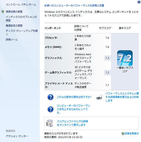 プライマリハードディスクの項目は7.7
